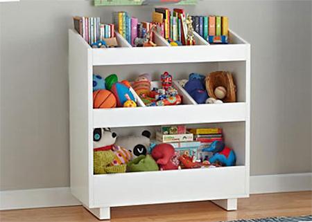 Home dzine home diy mdf bookshelf for books and toys for for Diy kids bookshelf ideas