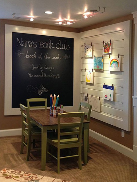 rustoleum chalkboard notice board ideas