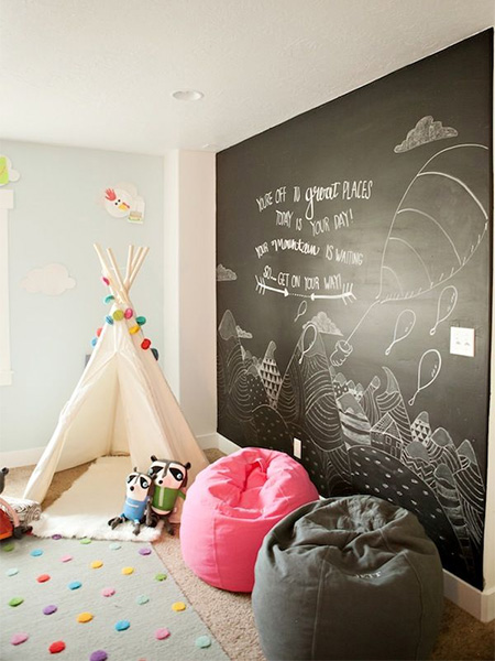 rustoleum chalkboard children's wall and bedroom ideas