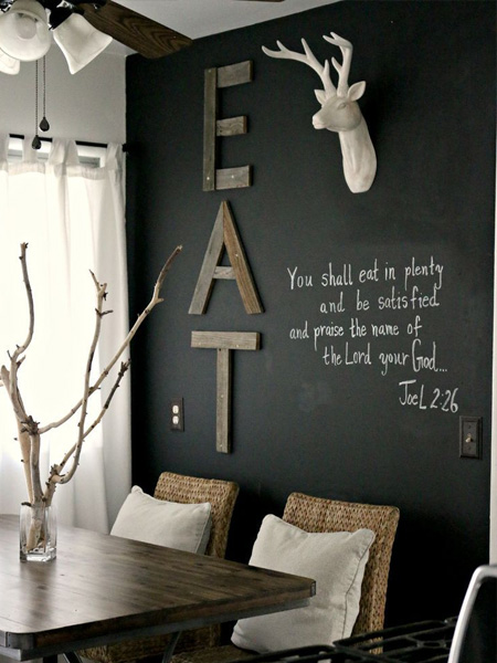 rustoleum dining room wall with chalkboard ideas
