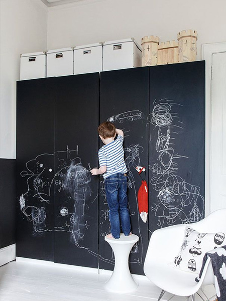 rustoleum chalkboard wall ideas for childrens bedroom spray on closet doors