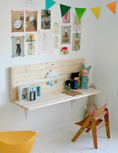 Home dzine craft ideas plywood perfect for children 39 s rooms for Kids room desk ideas