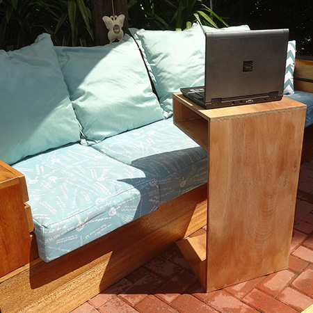 make a laptop stand or lap tray