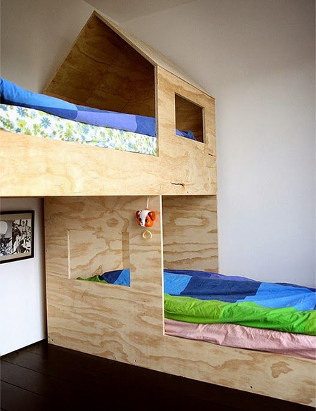 Home dzine craft ideas plywood perfect for children 39 s rooms for Bedroom designs plywood