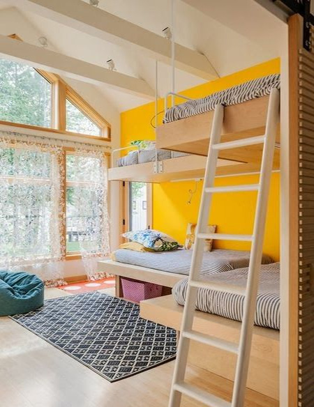plywood bunk beds childrens bedroom design ideas