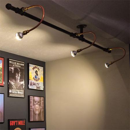 industrial pipe lighting. Galvanised Pipe Lighting For Art Gallery Wall Industrial K