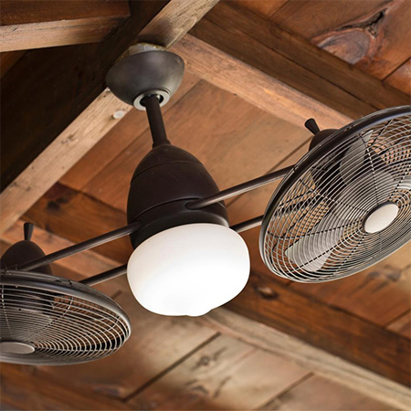 ceiling fans add comfort to outdoor living areas