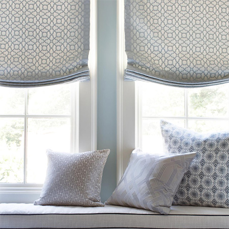 make your own roman or austrian blinds and cushion covers