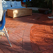 Pave outdoor entertainment area