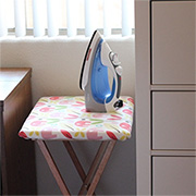 Practical fold-up ironing table
