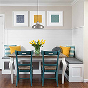 Banquette for kitchen or dining room