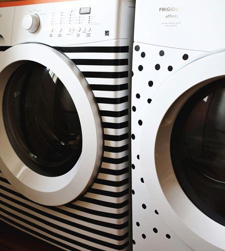 stripes with striped washing machine