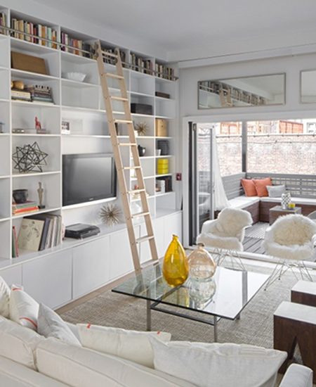 Make a small townhouse feel spacious