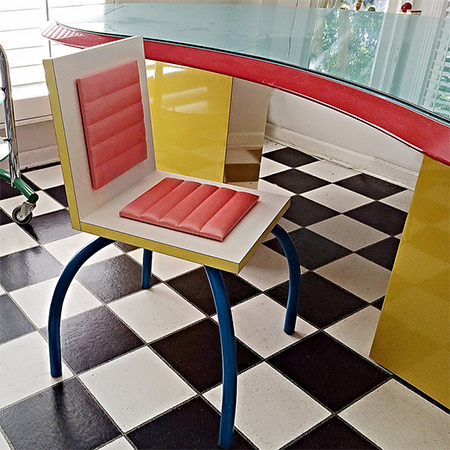 Memphis Milano Designed Furniture And Accessories In Vibrant Colours And  Bold Geometric Patterns
