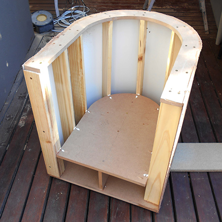 Home Dzine Home Diy How To Make A Tub Chair