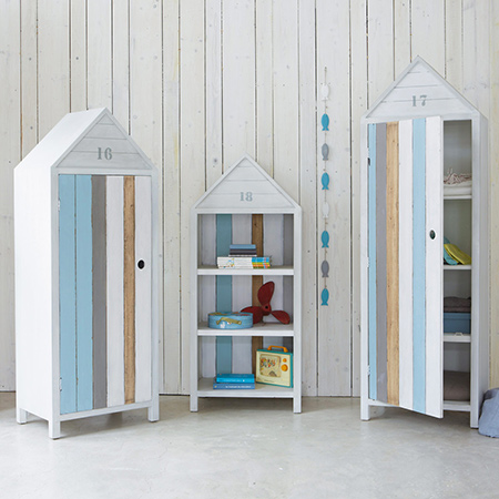 Making coastal style furniture for a child's bedroom beach storage cupboards