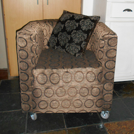 how to make and re-upholster a tub chair