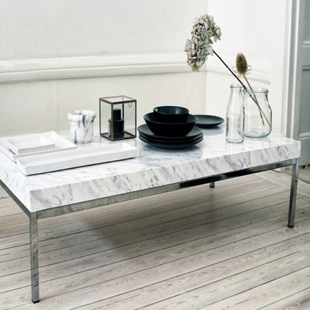Turn average furniture into stunning statement pieces with contact self-adhesive marble finish
