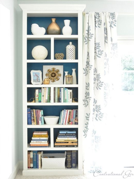how to make a diy bookcase or bookshelf ideas with painted backing