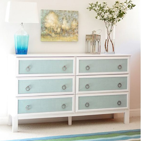 Turn average furniture into stunning statement pieces with paint and moulding