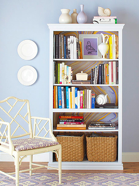 how to make a diy bookcase or bookshelf ideas with painted back