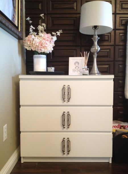 ikea hack diy make malm dresser with traditional handles