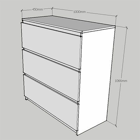 diy instructions and plans to make ikea malm dresser or chest of drawers