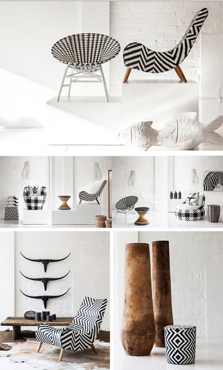 black and white decor at weylandts