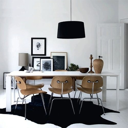 black and white decor and furniture is back