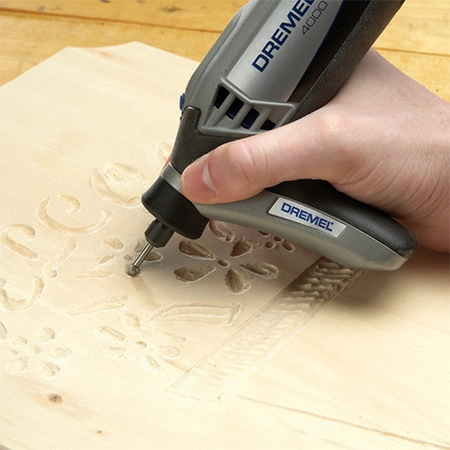 The soft grip provides added comfort and an angled base to allow the user to get closer to the work when you need to grip a rotary tool like a pencil for precise work during engraving, carving, etching and polishing applications.
