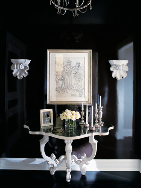 Reinvent furniture with matt white paint and dress up an entrance hall with gloss black