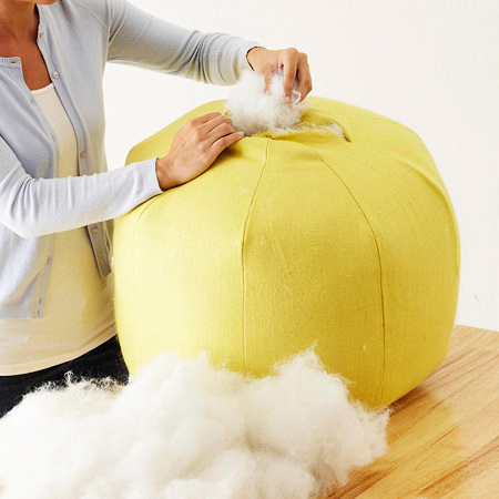 Sew up a comfortable pouf for your home