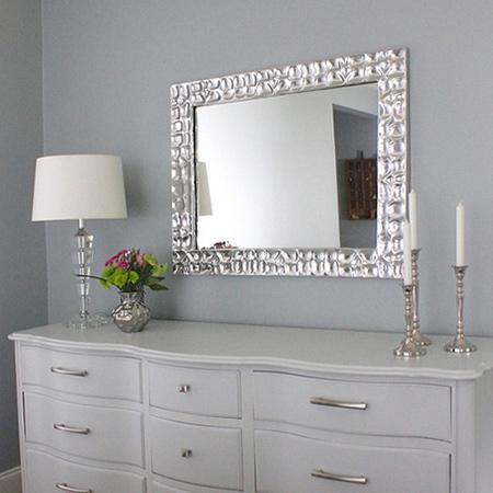 Home Dzine Home Decor Metallic Silver Designer Mirror
