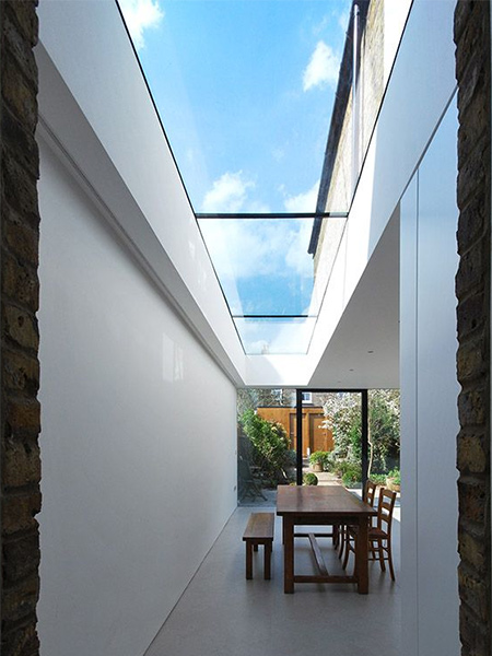 Glazing, walk-on rooflights and skylights