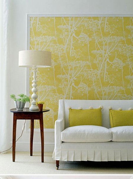 framed toile de jouy wallpaper panels