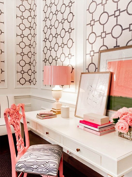 framed geometric wallpaper panels