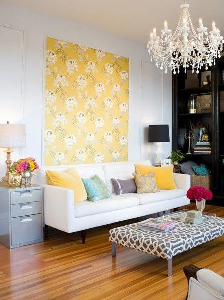 HOME DZINE Home Decor | Decorate bare walls with framed wallpaper ...