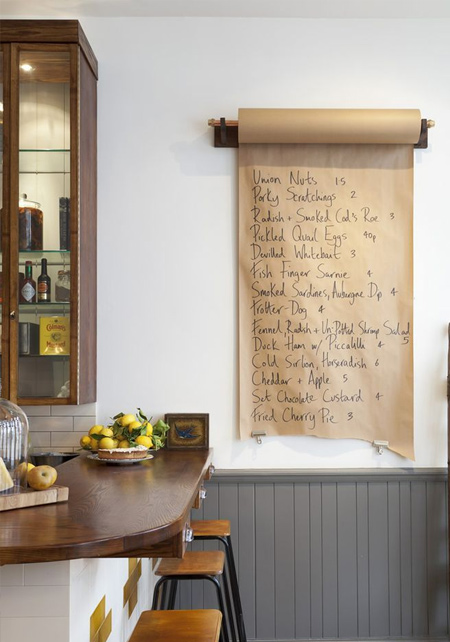 DIY ideas for brown paper grocery lists