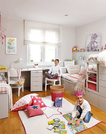 HOME DZINE Bedrooms | Shared bedroom for young boy and girl