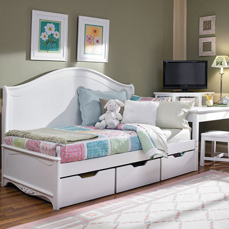 How to make underbed storage drawers childs day bed