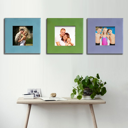 HOME DZINE Craft Ideas | Trio of colourful 1-hour picture frames