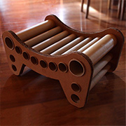 Cardboard tube seat or stool