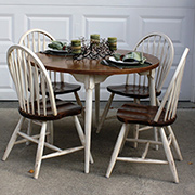 Pine dining set makeover
