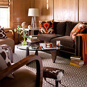 Use earthy colours and organic materials to warm up a home