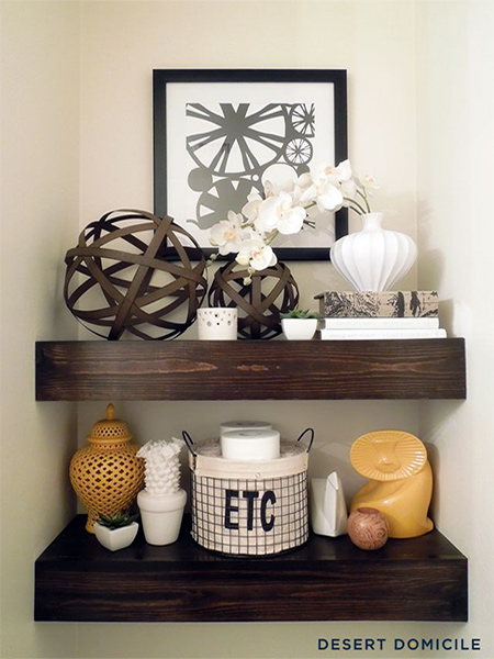 make a chunky floating shelf