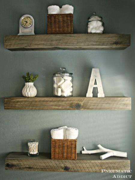 make a chunky floating shelf