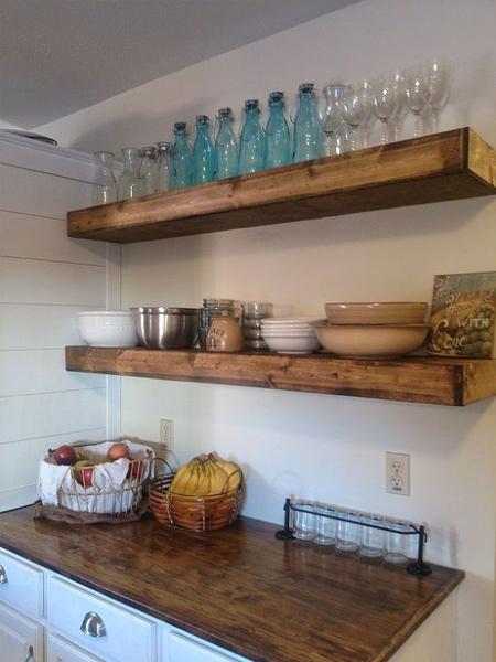 make chunky floating shelves