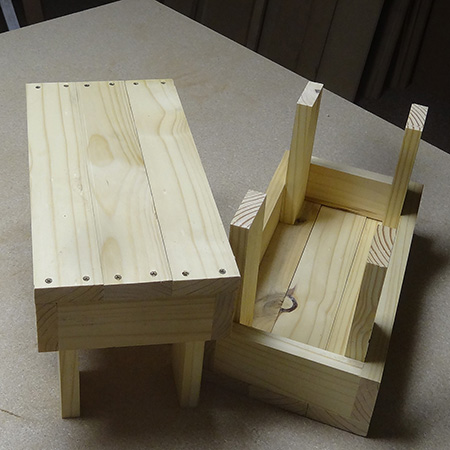 Baby steps... wooden stools for toddlers and tots