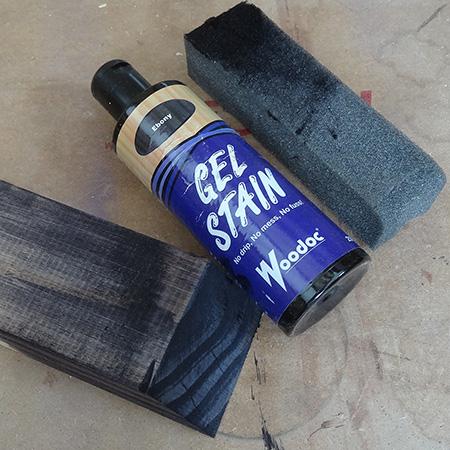 woodoc ebony gel stain rustic pine or reclaimed wood bookshelf