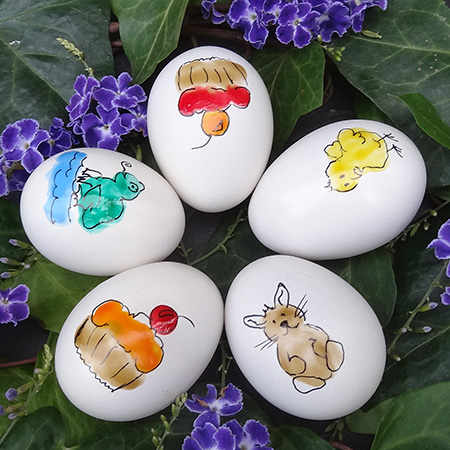 Fingerprint Easter eggs - fun kids craft